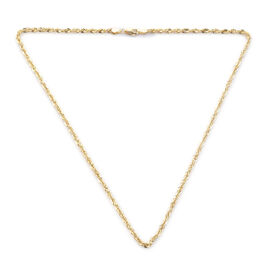 Royal Bali ILIANA Rope Chain Necklace in 18K Yellow Gold 4.40 Grams 17.5 Inch