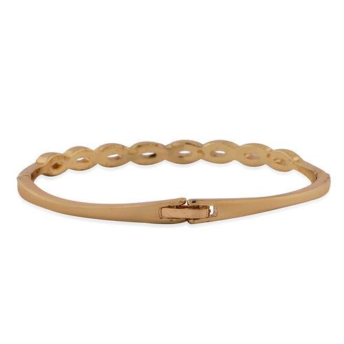THOMAS CALVI Cubic Zirconia Studded Infinity Bracelet (Size 7.5 Inch) in Rose Gold Tone