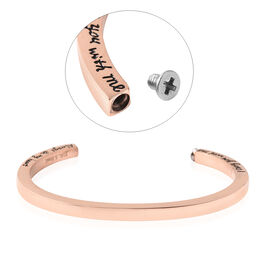 2 Piece Set - Engraved Message Memorial Bangle (Size 7), Screw Drive and Funnel with Needle in Rose