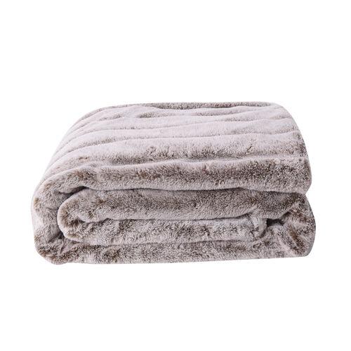 Super Soft Tip Dye Embossed Faux Fur Sherpa Blanket (150x200cm)