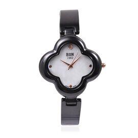 EON 1962 Swiss Movement Flower Pattern Dial Diamond Watch Water Resistant