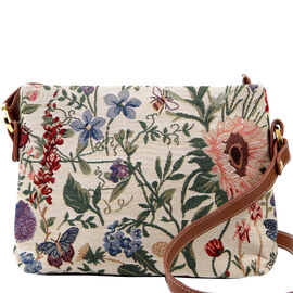 SIGNARE - Tapastry Morning Garden Cross Body Bag ( 28 x 18 x 8 cms)