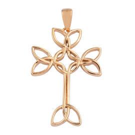 14K Gold Overlay Sterling Silver Cross Pendant