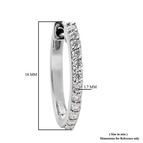 RHAPSODY 950 Platinum IGI Certified Diamond (VS/E-F) Inside-Out Hoop Earrings (with Clasp Lock) 0.50 Ct, Platinum wt 5.40 Gms