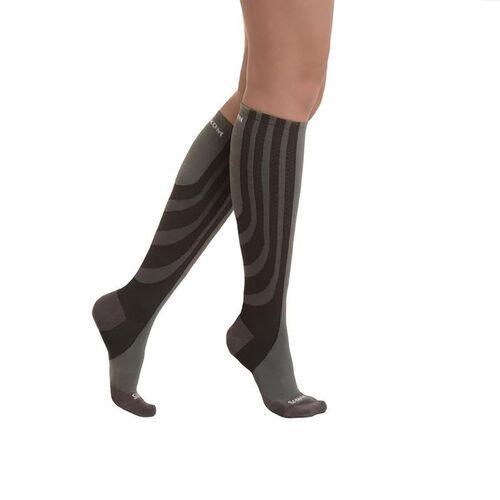 SANKOM SWITZERLAND Patent Socks - Grey (Size PLUS II / 6-8 UK)