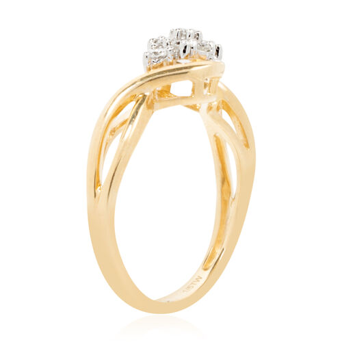 New York Close Out Deal - 9K Yellow Gold Diamond (Rnd) (I2/G-H) Ring 0.250 Ct.