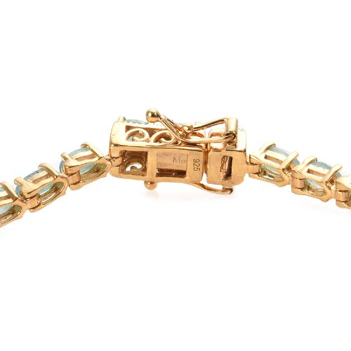Grandidierite (Ovl) Tennis Bracelet (Size 7.5) in 14K Gold Overlay Sterling Silver 8.00 Ct, Silver wt 8.40 Gms