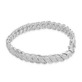 New York Collection Close Out Deal - Diamond (Rnd) Bracelet (Size 7.5) in Silver Plated