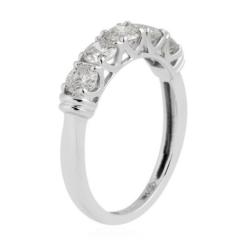 New York Close Out -14K White Gold Diamond (Rnd) (I2/G-H) Ring 1.000 Ct.