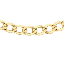 9K Yellow Gold Flat Curb Chain (Size 18), Gold wt 6.20 Gms