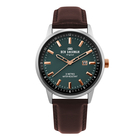 Ben Sherman Matte Green Dial  Mens Watch with Brown Leather Strap, 43mm