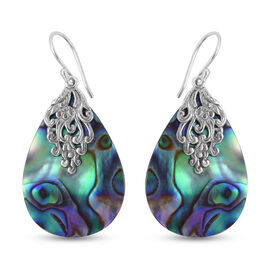Royal Bali Collection Abalone Shell Drop Earrings in Sterling Silver