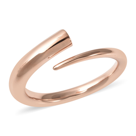 RACHEL GALLEY Rose Gold Overlay Sterling Silver Bypass Ring