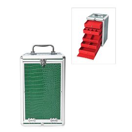 Croc Pattern Anti-Tarnish Lining Five Tier Medicine / Jewellery / Beauty Organiser (Size 33x20x19.5
