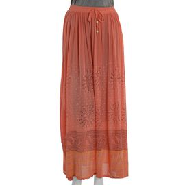 Orange Colour One Size Skirt (Size 100x76 Cm)