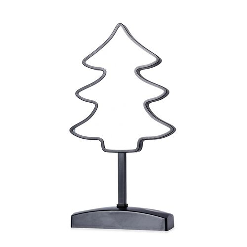 Tree Shaped LED Tunnel Light (Size 31x15 Cm) - Black (4xAA Battery not Included)