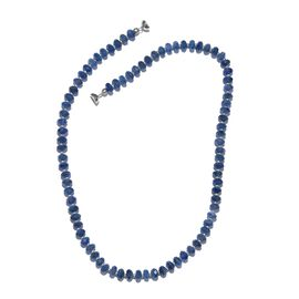 Limited Edition-  Tibetan Kyanite Necklace (Size 20) in Platinum Overlay Sterling Silver with Magnetic Clasp and Silver Ball 135.000  Ct.