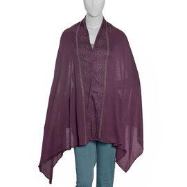 Designer Inspired Purple Colour Kaftan with Swarovski Crystal Embellished Size 151.13x69.85 Cm