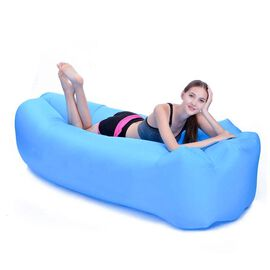 Self Inflating Air Lounger with Carry Pouch (Size 230x70 Cm) - Blue