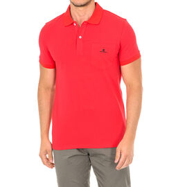 Karl Lagerfeld Mens Basic Polo Short Sleeve T-Shirt in Red Colour Size S