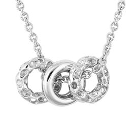 RACHEL GALLEY Allegro Collection - Rhodium Overlay Sterling Silver Pendant with Chain (Size 20), Sil