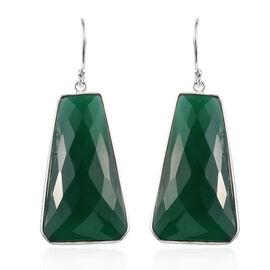 Verde Onyx Hook Earrings in Sterling Silver 62.961 Ct.