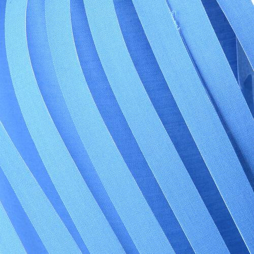 Blue with Black Tassel DIY Lampshade (Size 12.3x28 Cm)