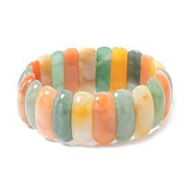 Multi Colour Aventurine Stretchable Bracelet (Size 6.75) 321.50 Ct.