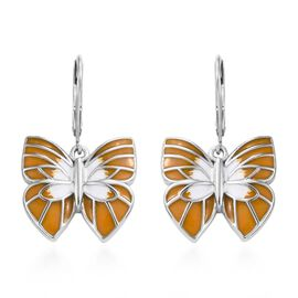 Platinum Overlay Sterling Silver Earring