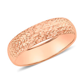 9K Rose Gold Diamond Cut Band Ring