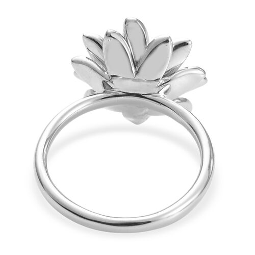 Platinum and Yellow Gold Overlay Sterling Silver Daisy Ring