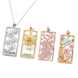 4 Seasons Pendant and chain set, Summer, Autumn, Winter and Spring with Austrian Crystal details