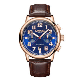 Limited Edition - GAMAGES OF LONDON Hand Assembled Triple Date Automatic Rose - 43mm - Water Resista