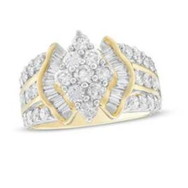 NY Close Out - 10K Yellow Gold Diamond (I1-I2/G-H) Ring 2.00 Ct, Gold wt 6.80 Gms