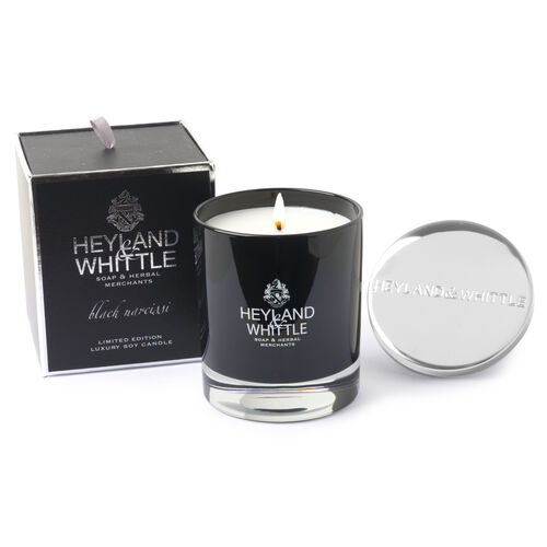Heyland & Whittle: Limited Edition Black Narcissi Glass Jar Candle  - 230g
