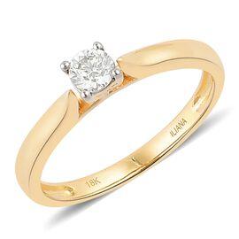 ILIANA 0.25 Carat IGI Certified Solitaire Diamond Ring in 18K Gold