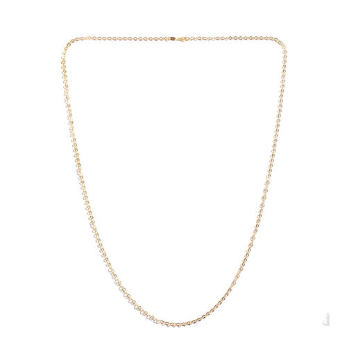 14K Gold Overlay Sterling Silver Chain (Size 36), Silver wt 5.90 Gms.