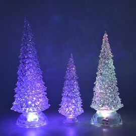 Monster Deal -  Set of 3  - Decorative Multicolour Light Changing Tree with Three Different Sizes -