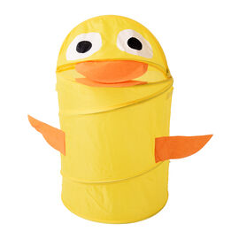 Set of 2 Cute Duck Cartoon Animal Folding Basket in Yellow (38x58cm)