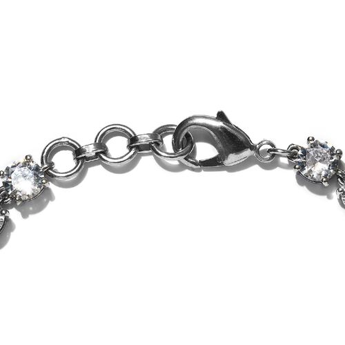 One Time Deal - Simulated White Colour Diamond Tennis Bracelet (Size 7.5)