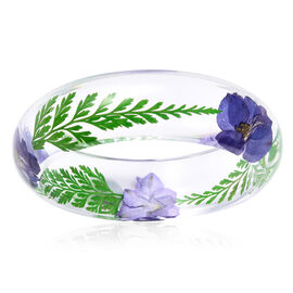 Dried Leaf and Floral Bangle (Size 7.5)