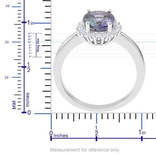 SIGNATURE COLLECTION ILIANA 18K White Gold AAA Peacock Tanzanite (Ovl 2.42 Ct), Diamond (SI/G-H) Ring 2.620 Ct.