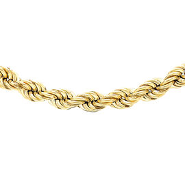 Italian Close Out Deal- 9K Yellow Gold Rope Chain (Size - 30) with Spring Ring Clasp, Gold Wt. 13.50