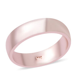 6mm Plain Band Ring in Rose Gold Plated Sterling Silver 4.12 Grams