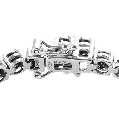 Elite Shungite Bracelet (Size 7.5) in Platinum Overlay Sterling Silver 6.00 Ct, Silver wt 9.80 Gms
