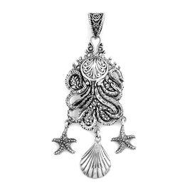 Royal Bali Ocean Theme Pendant in Sterling Silver 12.19 Grams