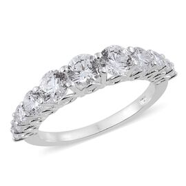 J Francis - Sterling Silver (Rnd) Ring Made with SWAROVSKI ZIRCONIA 2.500 Ct.