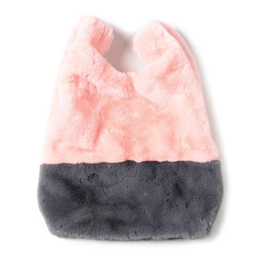 Faux Fur Handbag (Size 25x38 Cm) and Scarf (Size 12x88Cm)