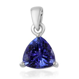 RHAPSODY 1 Ct AAAA Tanzanite Solitaire Pendant in 950 Platinum