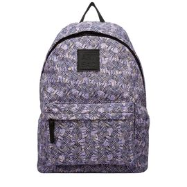 Artsac - Pink Colour Syers - Line Print Backpack (Size 270 x340 x125 mm)
